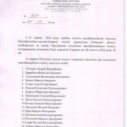 Список осіб, які склали кваліфікаційний іспит в червні 2016 року