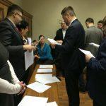 Сьогодні (15.02.2018) Кваліфікаційна палата КДКА Київської області приймає усну частину іспиту.